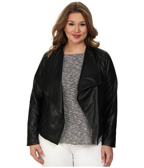 BB Dakota - Plus Size Saidi Jacket (Black) Women's Coat