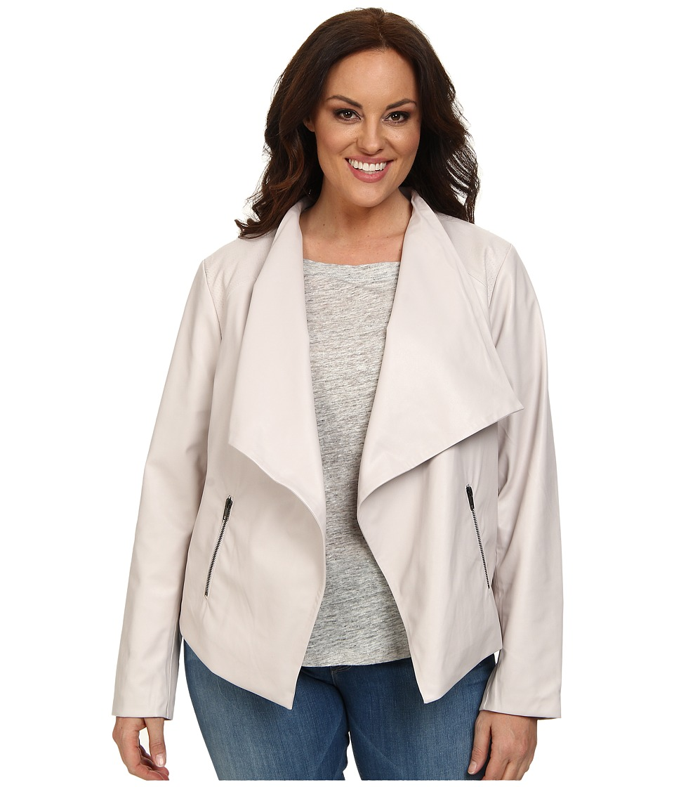 BB Dakota - Plus Size Saidi Jacket (Parchment) Women's Coat