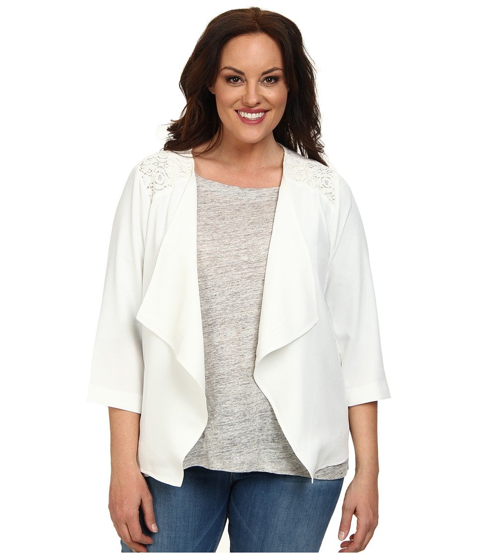 BB Dakota - Plus Size London Jacket (Ivory) Women's Coat