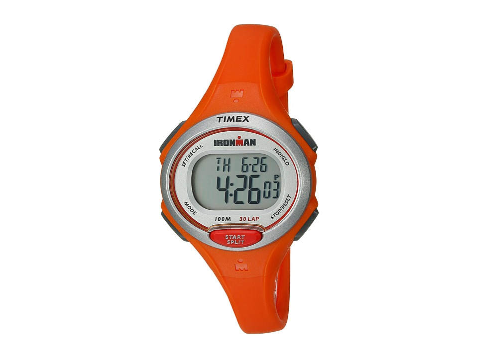 Timex - Ironman Essentials 30 Mid-Size (Mandarin Orange/Silver-Tone) Watches