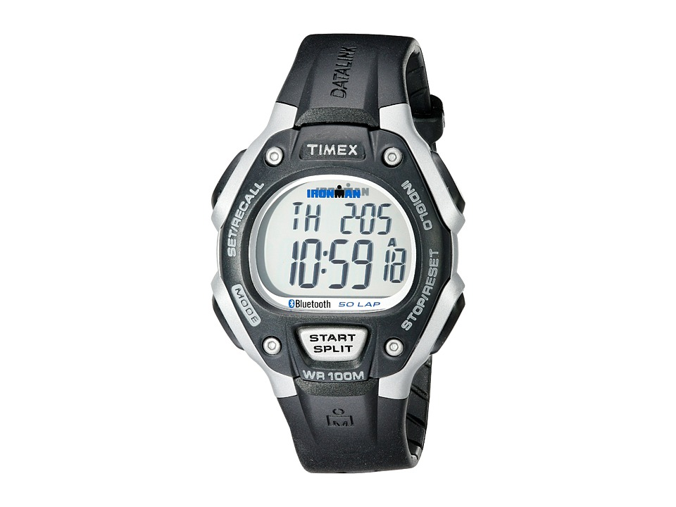 Timex - Ironman Classic 50 Move+ (Black/Silver-Tone) Watches