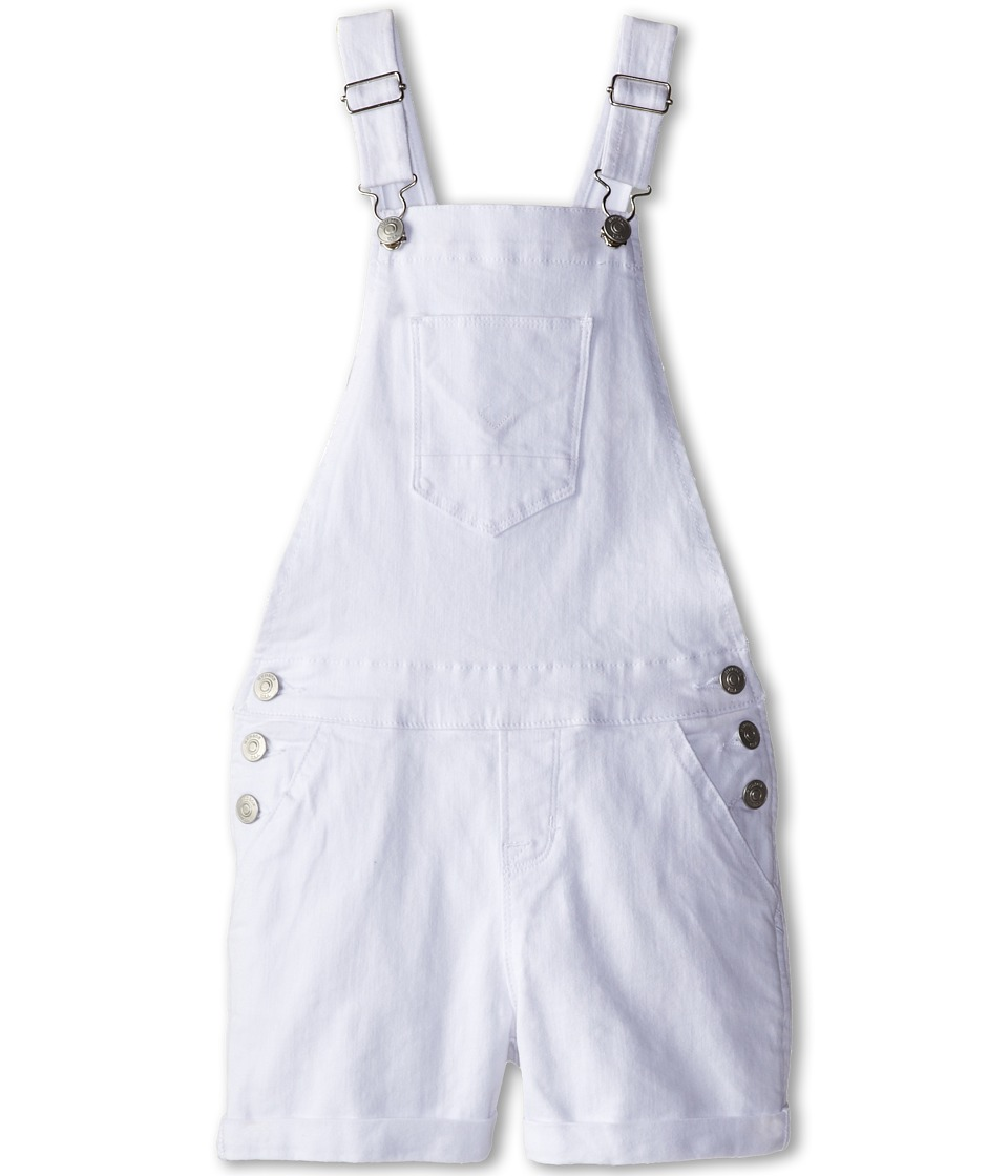 Hudson Kids - Roll Hem Shortall in White (Big Kids) (White) Girl's Overalls One Piece