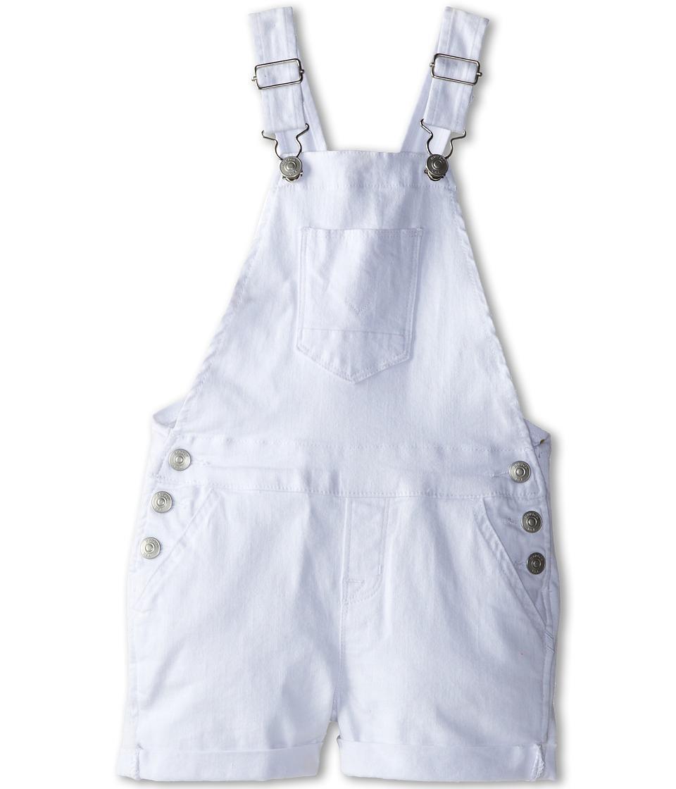 Hudson Kids - Roll Hem Shortall in White (Little Kids) (White) Girl's Overalls One Piece