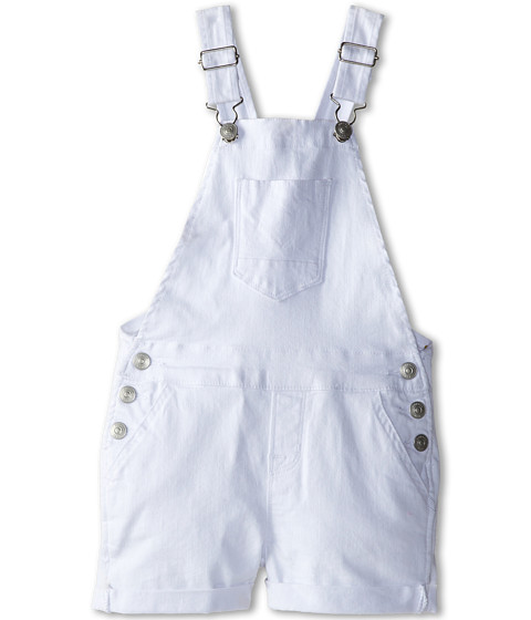 Hudson Kids - Roll Hem Shortall in White (Little Kids) (White) Girl