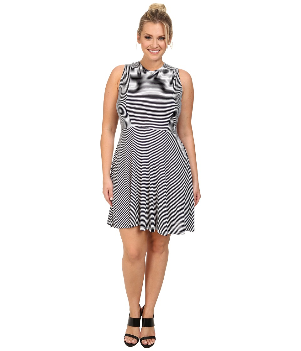 BB Dakota - Plus Size Brant Dress (Midi Blue) Women
