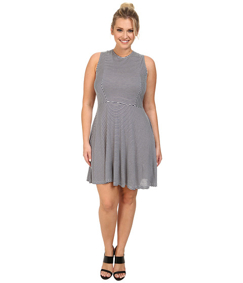 BB Dakota - Plus Size Brant Dress (Midi Blue) Women's Dress