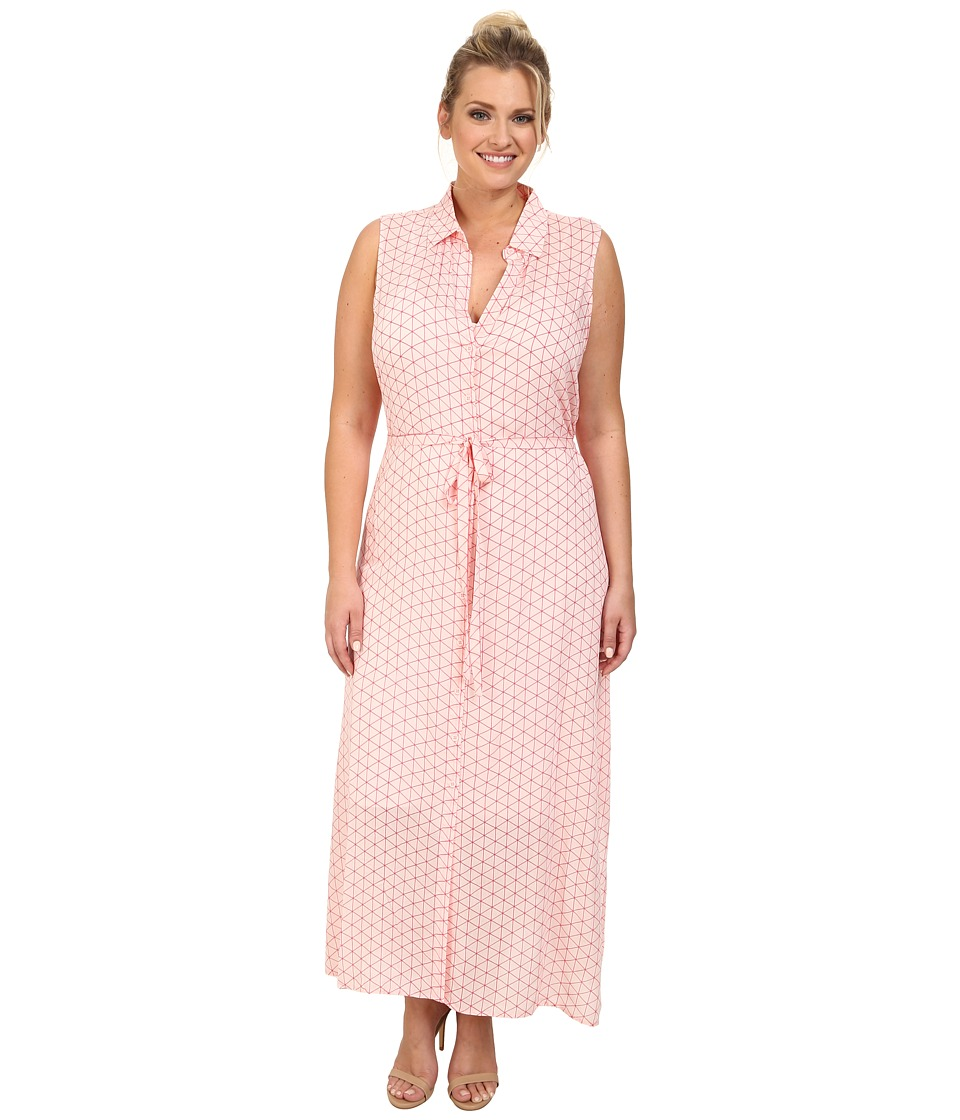 BB Dakota - Plus Size Mandy Dress (Powder Puff) Women's Dress
