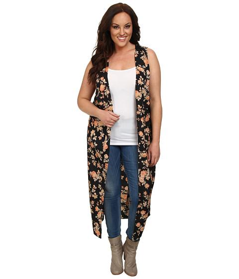 BB Dakota - Plus Size Kolton Vest (Black) Women