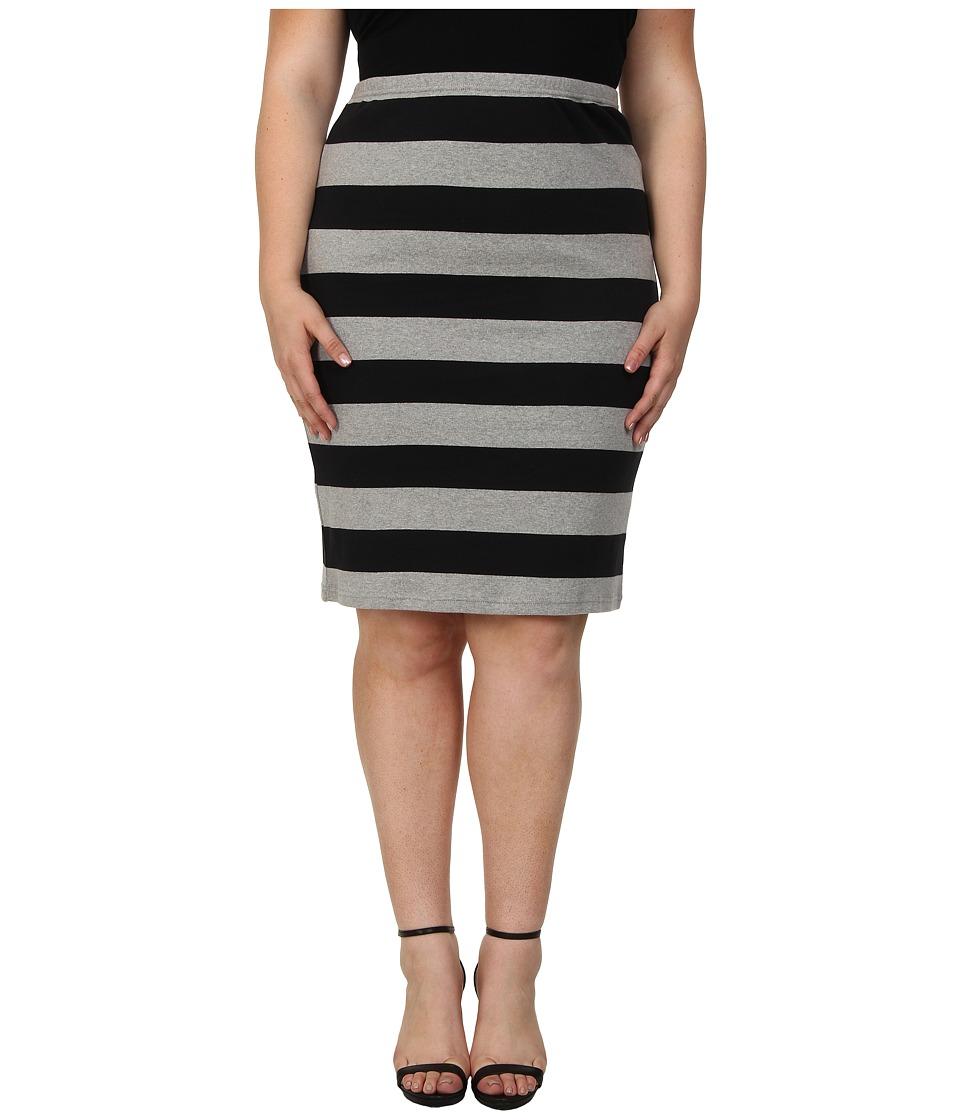 BB Dakota - Plus Size Odele Skirt (Black) Women's Skirt plus size,  plus size fashion plus size appare