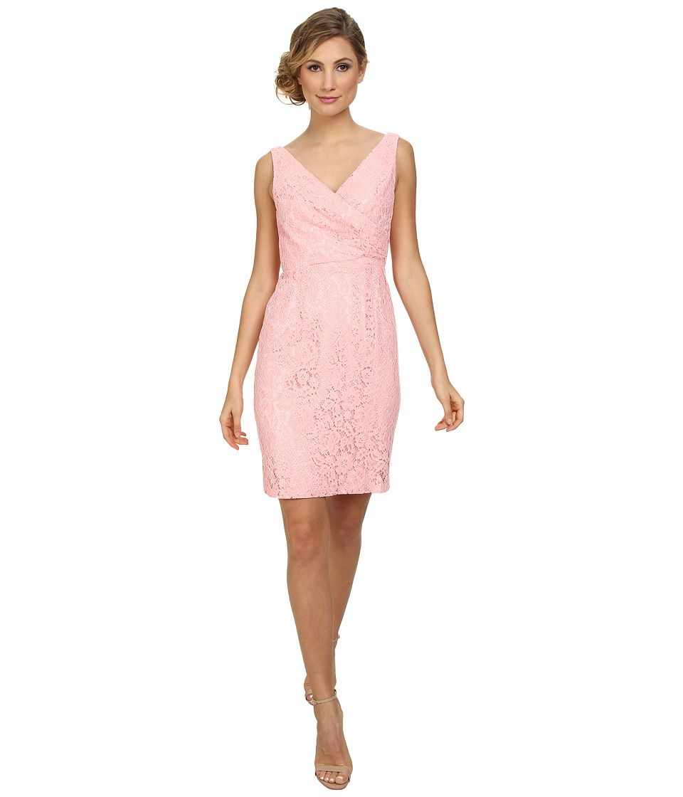 Donna Morgan - Lulu V-Neck Lace Dress (Cherry Blossom) Women's Dress