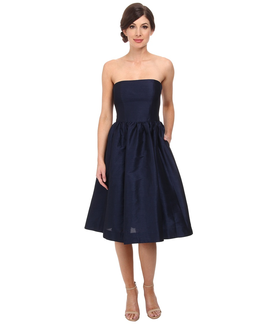 Donna Morgan - Georgina Full Skirt Strapless Shantung (Midnight) Women's Dress