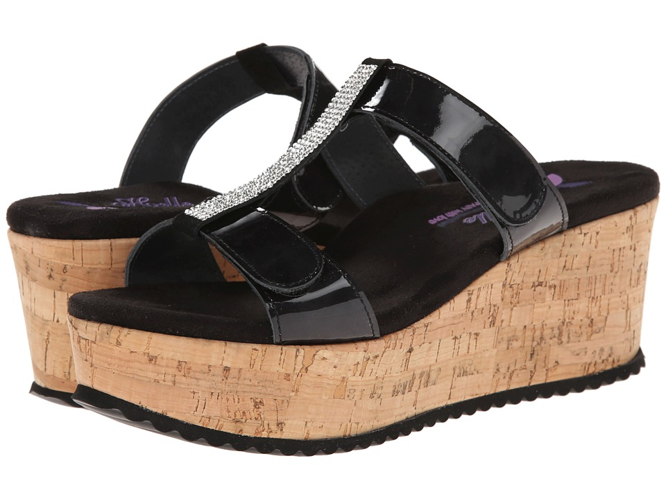 Helle Comfort - Kadriye (Black Patent) Women's Wedge Shoes