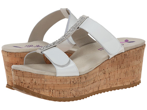 Helle Comfort - Kadriye (White Patent) Women's Wedge Shoes