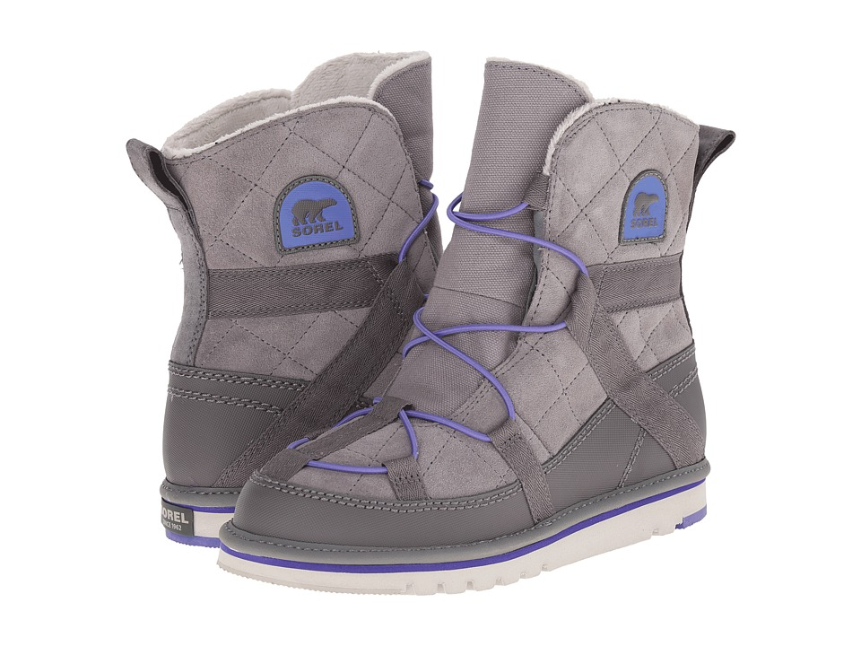 SOREL Kids - Newbie (Little Kid/Big Kid) (Light Grey/Purple Lotus) Girls Shoes