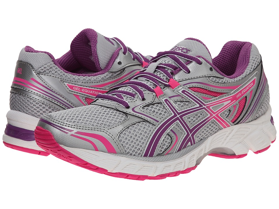 ASICS Gel-Equation(r) 8 (Silver/Grape/Hot Pink) Women's Running Shoes