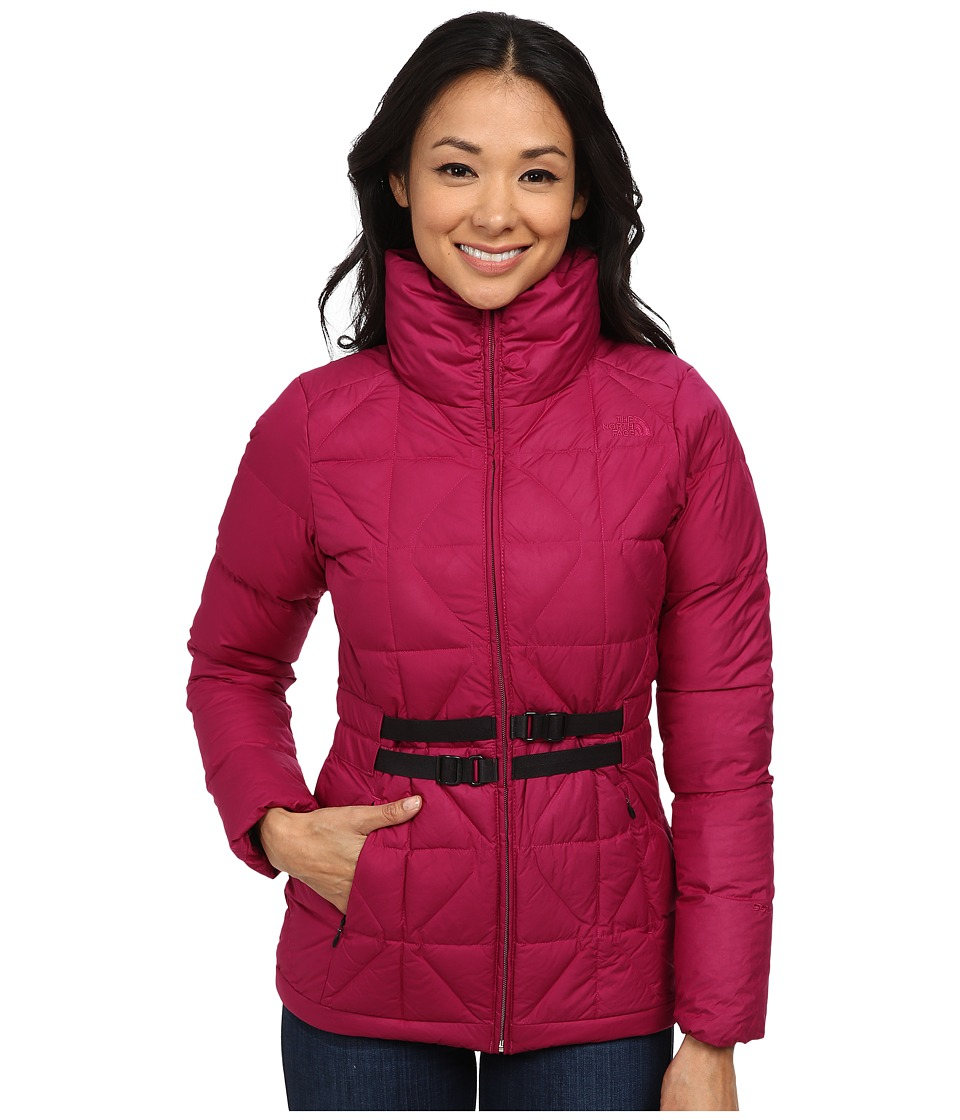 The North Face - Belted Mera Peak Jacket (Dramatic Plum) Women's Coat