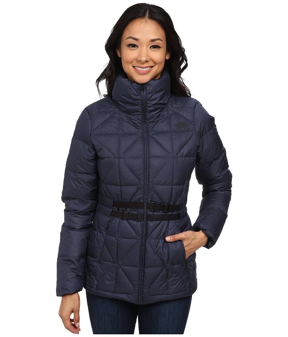 The North Face - Belted Mera Peak Jacket (Urban Navy) Women's Coat