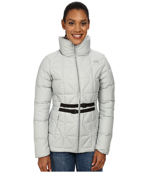 The North Face - Belted Mera Peak Jacket (Metallic Silver Heather) Women's Coat