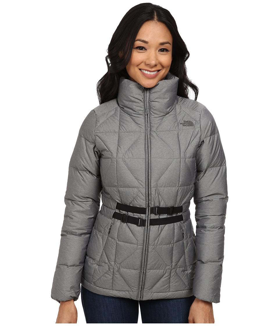 The North Face - Belted Mera Peak Jacket (Graphite Grey Heather) Women's Coat