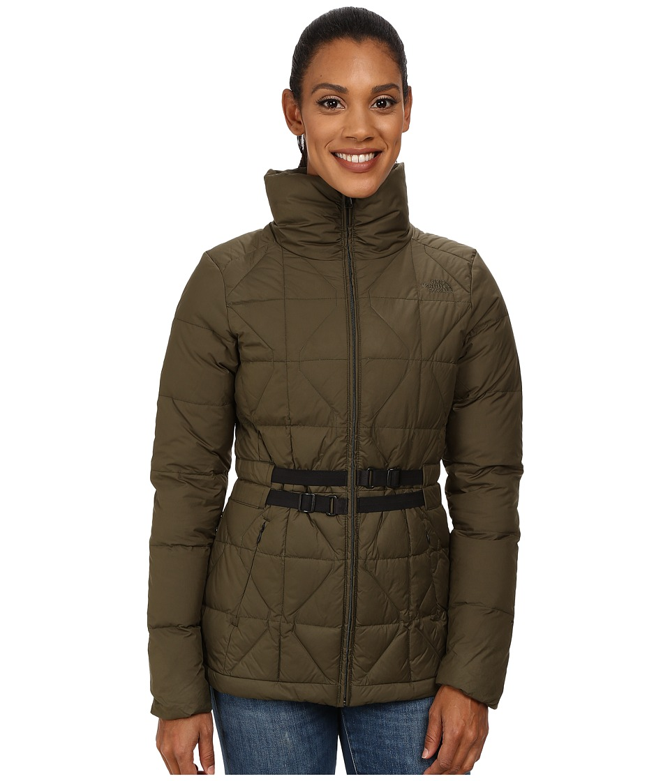 The North Face - Belted Mera Peak Jacket (Forest Night Green) Women's Coat