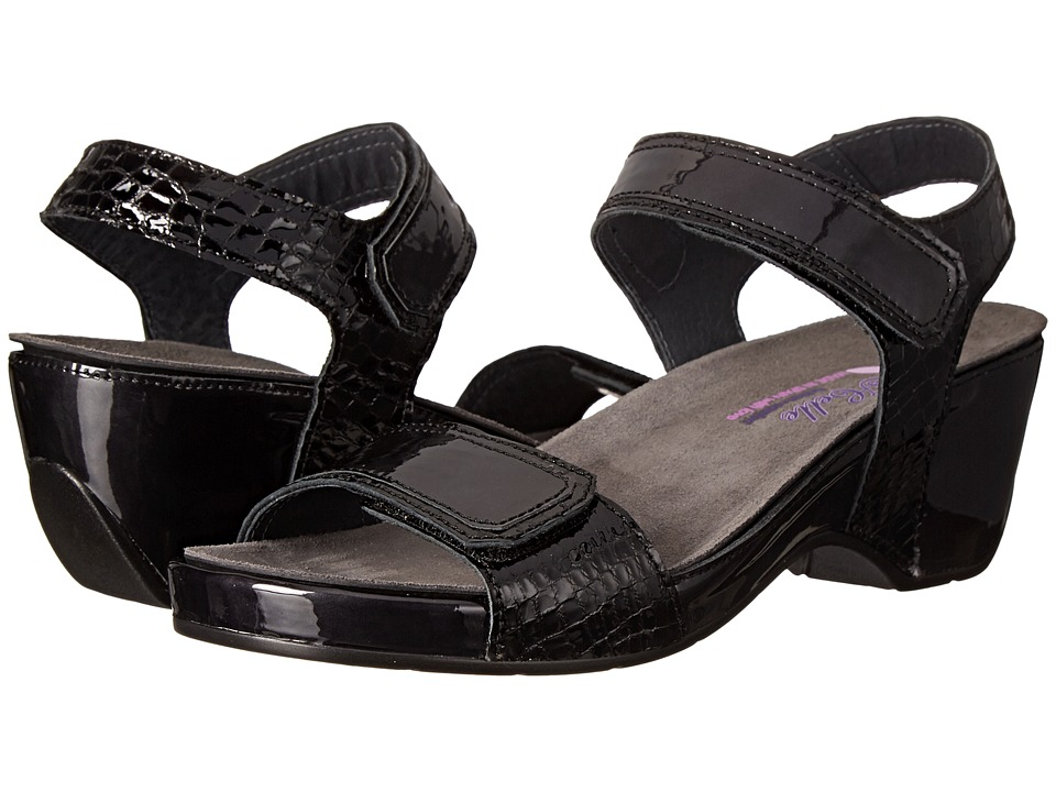 Helle Comfort - Alesha (Black Combo) Women's Dress Sandals