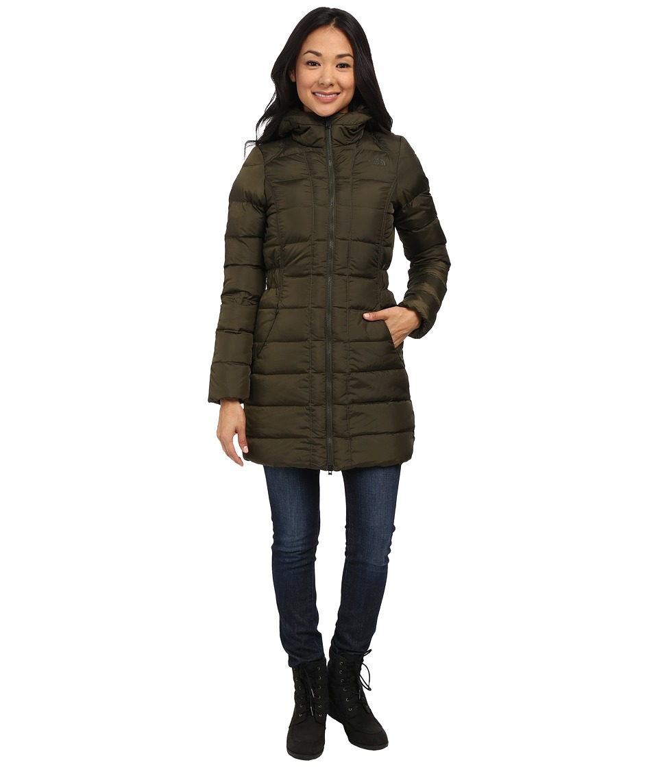 The North Face - Gotham Parka (Forest Night Green) Women's Coat