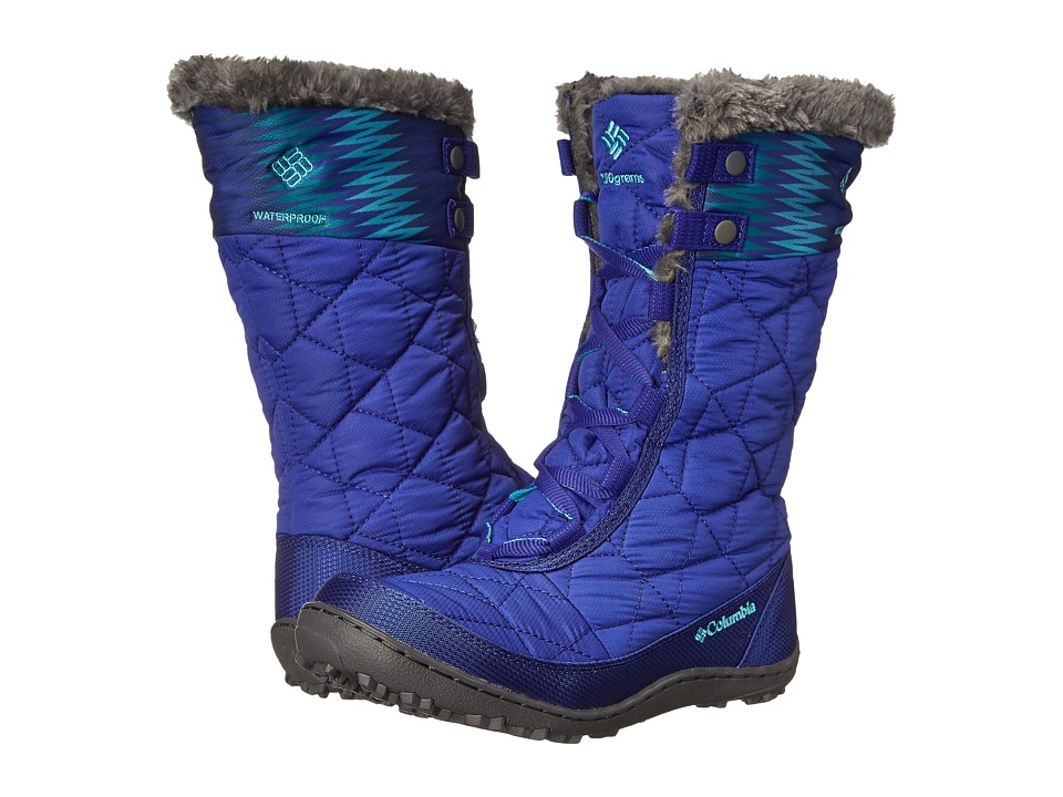 Columbia Kids - Minx Mid II Waterproof Omni-Heat Print Boot (Little Kid/Big Kid) (Light Grape/Geyser) Girls Shoes