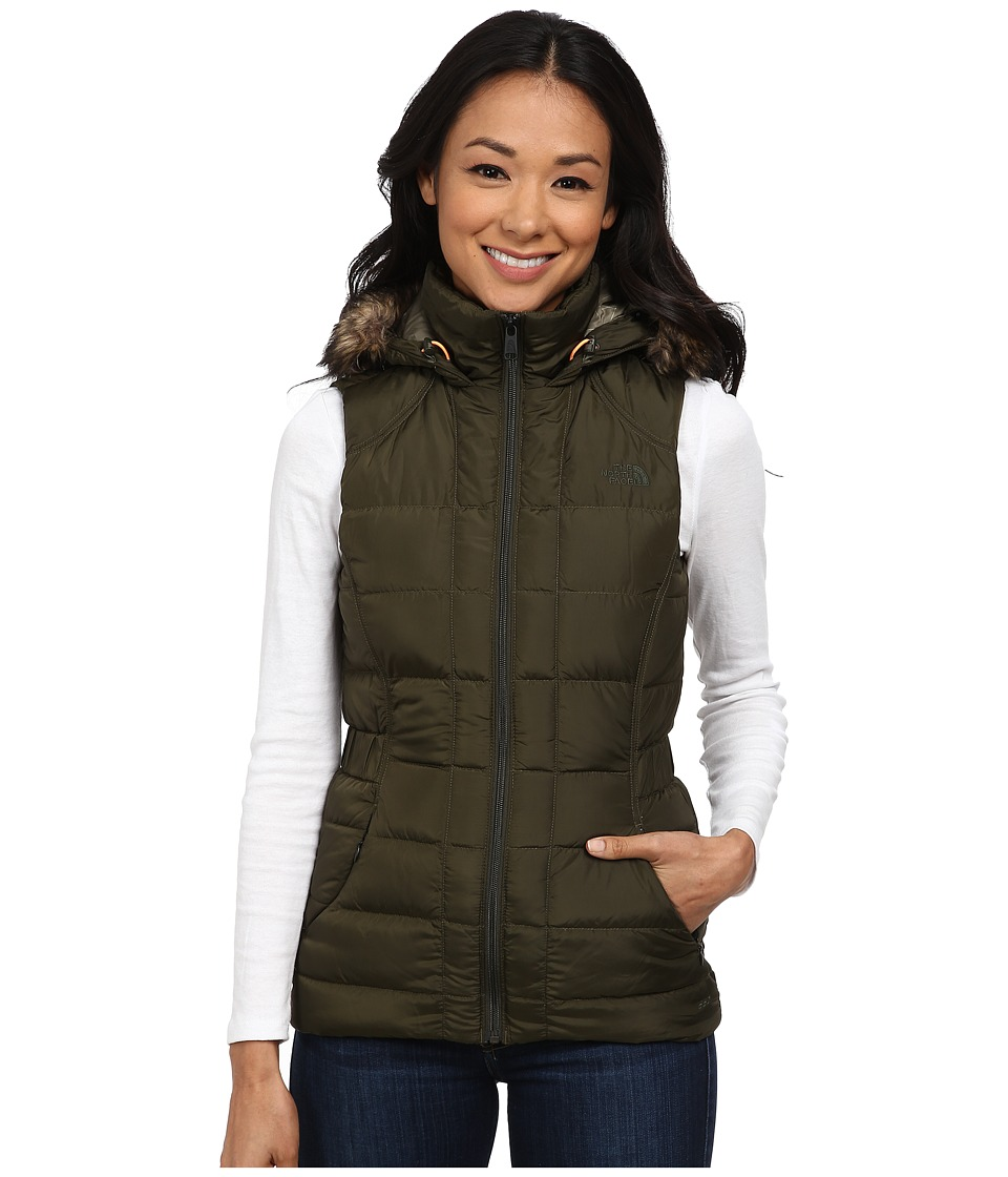 The North Face - Gotham Vest (Forest Night Green) Women