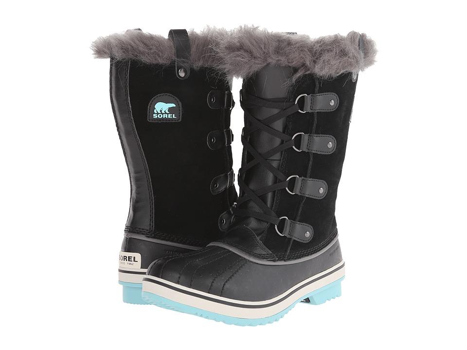 SOREL Kids - Tofino (Little Kid/Big Kid) (Black/Iceberg) Girls Shoes