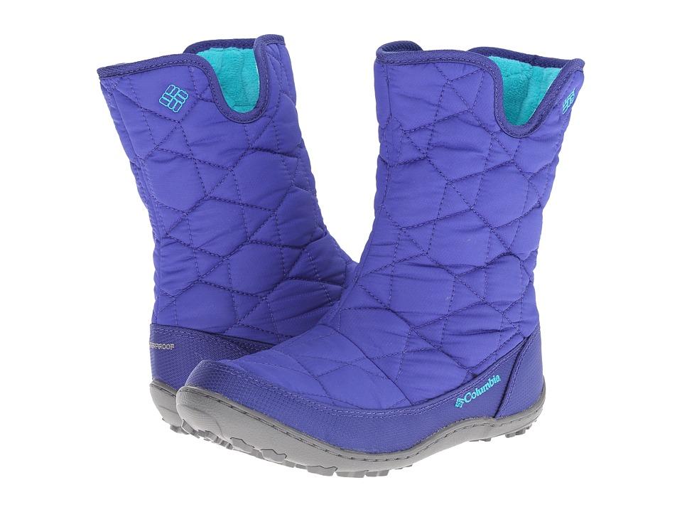 Columbia Kids - Minx Slip Omni-Heat Waterproof Boot (Little Kid/Big Kid) (Light Grape/Geyser) Girls Shoes