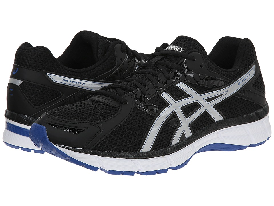 ASICS - Gel-Excite 3 (Black/Silver/Blue) Men's Running Shoes