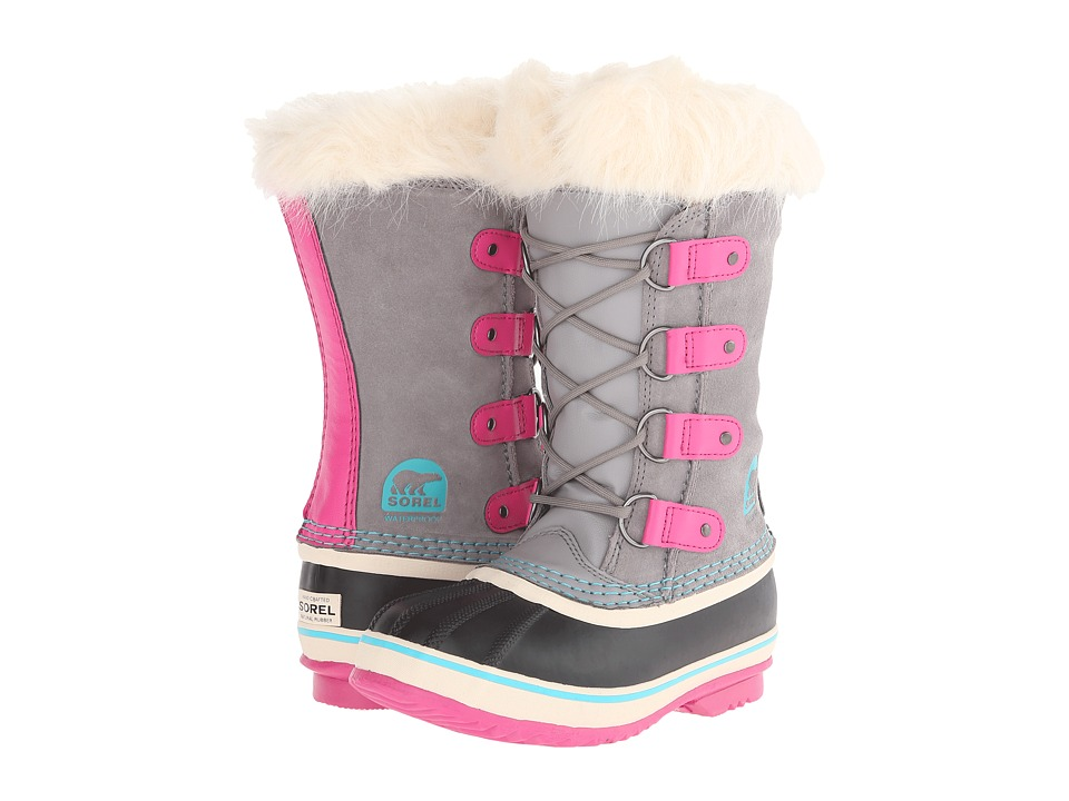 SOREL Kids - Joan of Arctic (Little Kid/Big Kid) (Light Grey) Girls Shoes