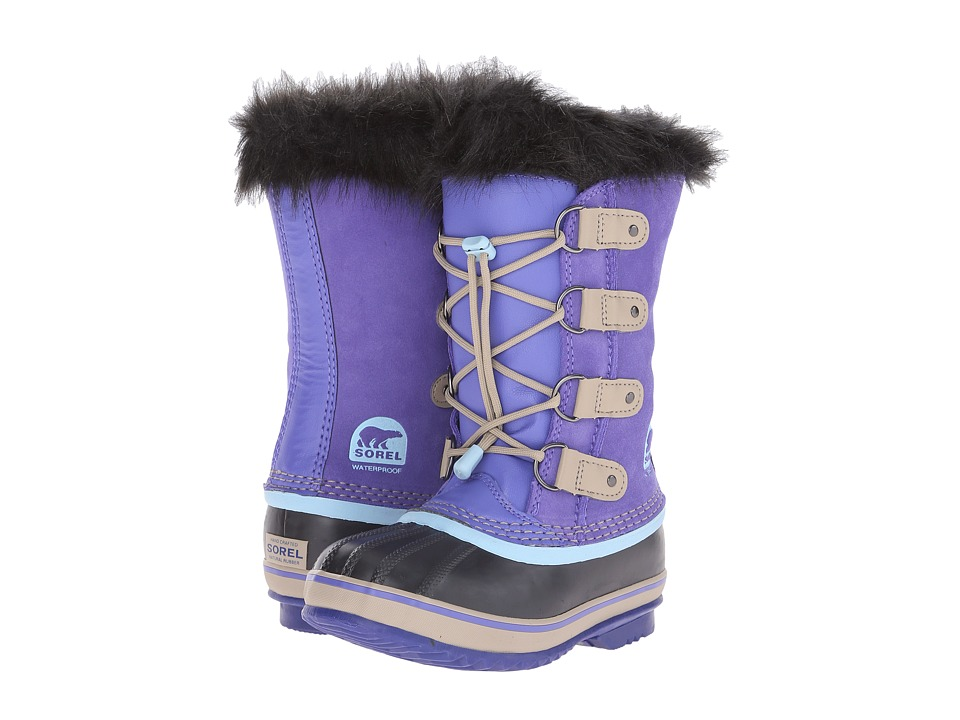 SOREL Kids - Joan of Arctic (Little Kid/Big Kid) (Purple Lotus/Sky Blue) Girls Shoes