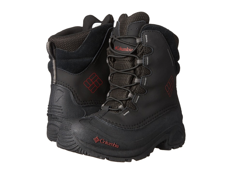 Columbia Kids - Bugaboot II Boot (Little Kid/Big Kid) (Black/Chili) Boys Shoes