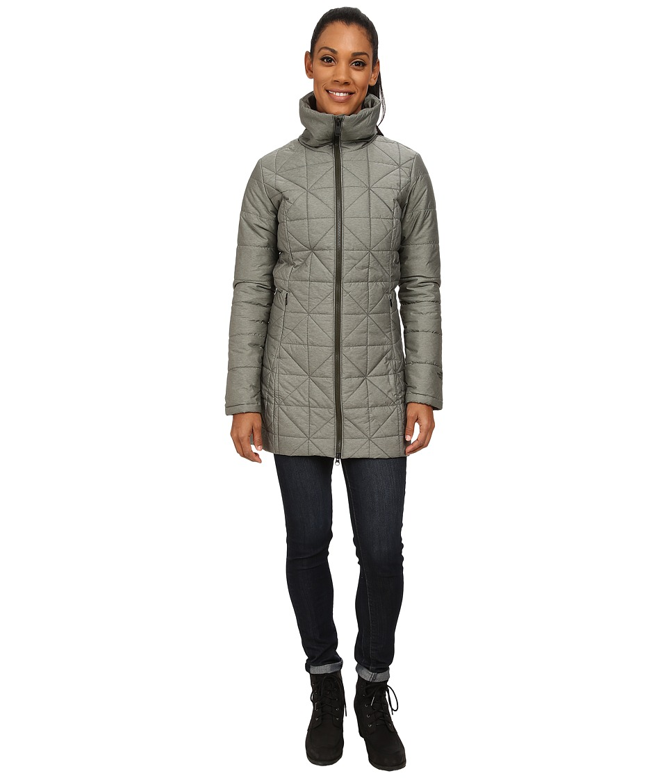 The North Face - Insulated Arlayne Jacket (Forest Night Green Heather) Women's Coat