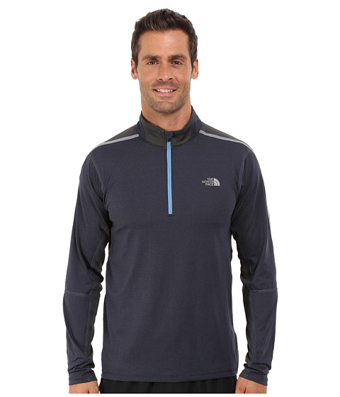 The North Face - Kilowatt 1/4 Zip (Cosmic Blue Heather/Asphalt Grey) Men's Long Sleeve Pullover
