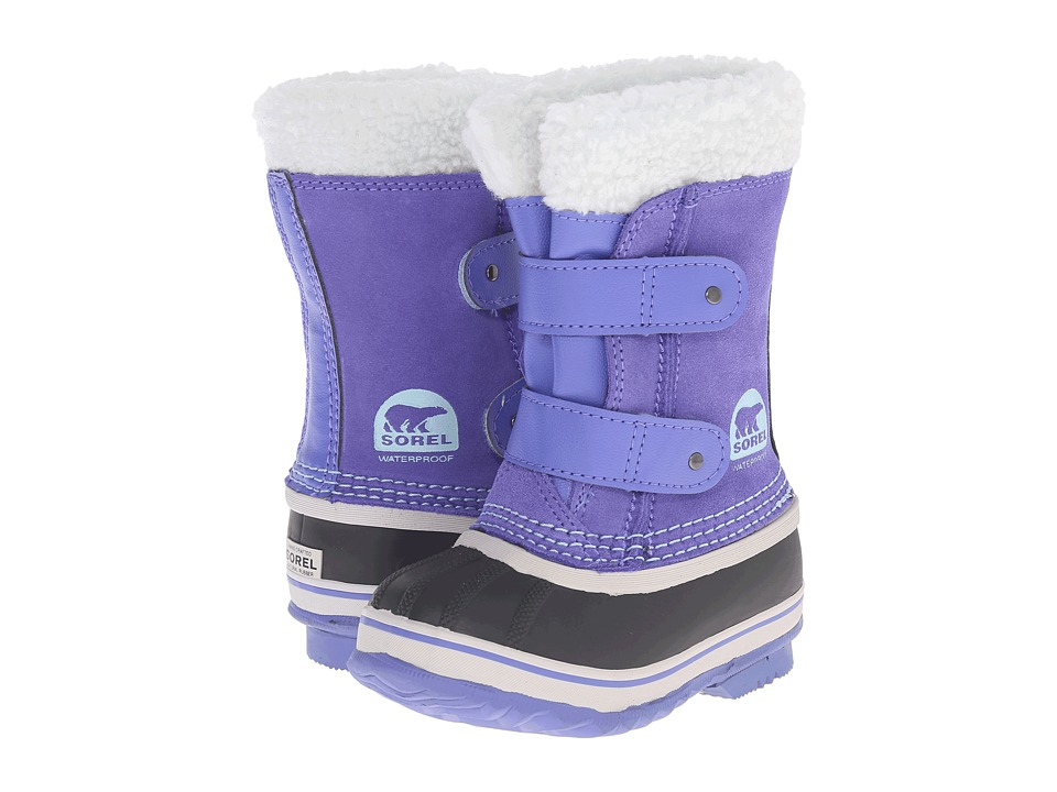 SOREL Kids - 1964 Pac Strap (Toddler) (Purple Lotus/Sky Blue) Girls Shoes