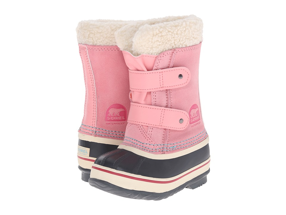 SOREL Kids - 1964 Pac Strap (Toddler/Little Kid) (Coral Pink) Girls Shoes