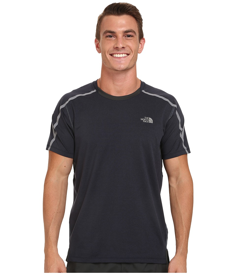 The North Face - Kilowatt Short Sleeve Crew Shirt (Cosmic Blue Heather/Asphalt Grey) Men