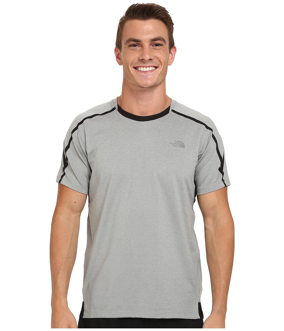 The North Face - Kilowatt Short Sleeve Crew Shirt (Monument Grey Heather/TNF Black) Men