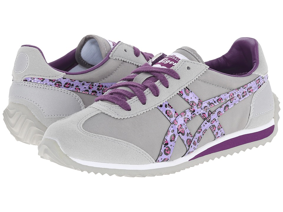 Onitsuka Tiger Kids by Asics - California 78 (Toddler/Little Kid) (Light Grey/Purple Leopard) Girls Shoes