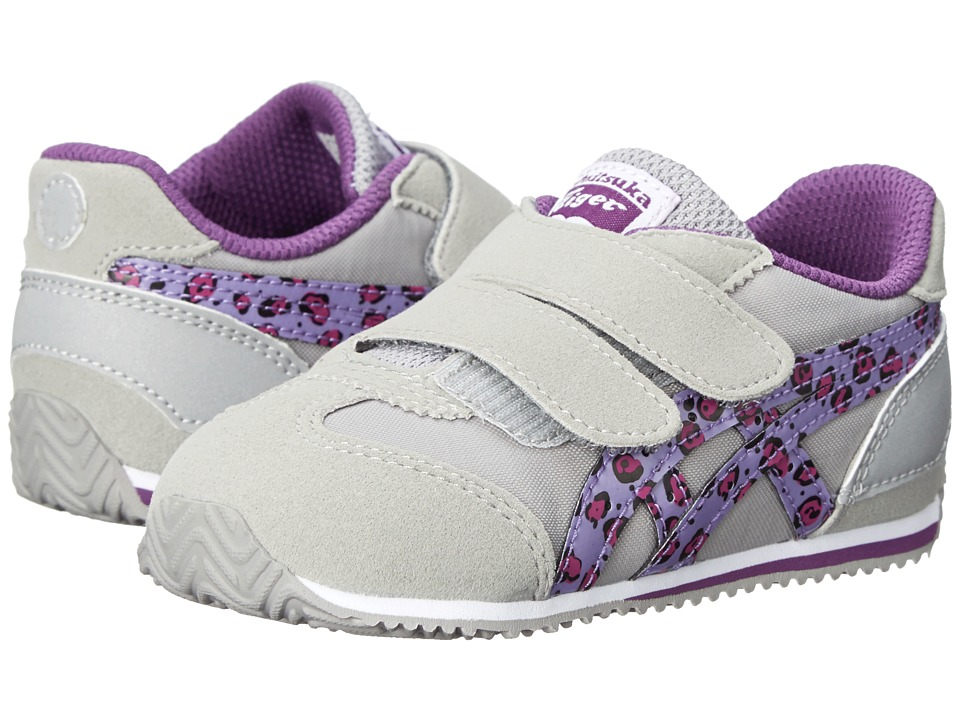 Onitsuka Tiger Kids by Asics - California 78 (Toddler) (Light Grey/Purple Leopard) Girls Shoes