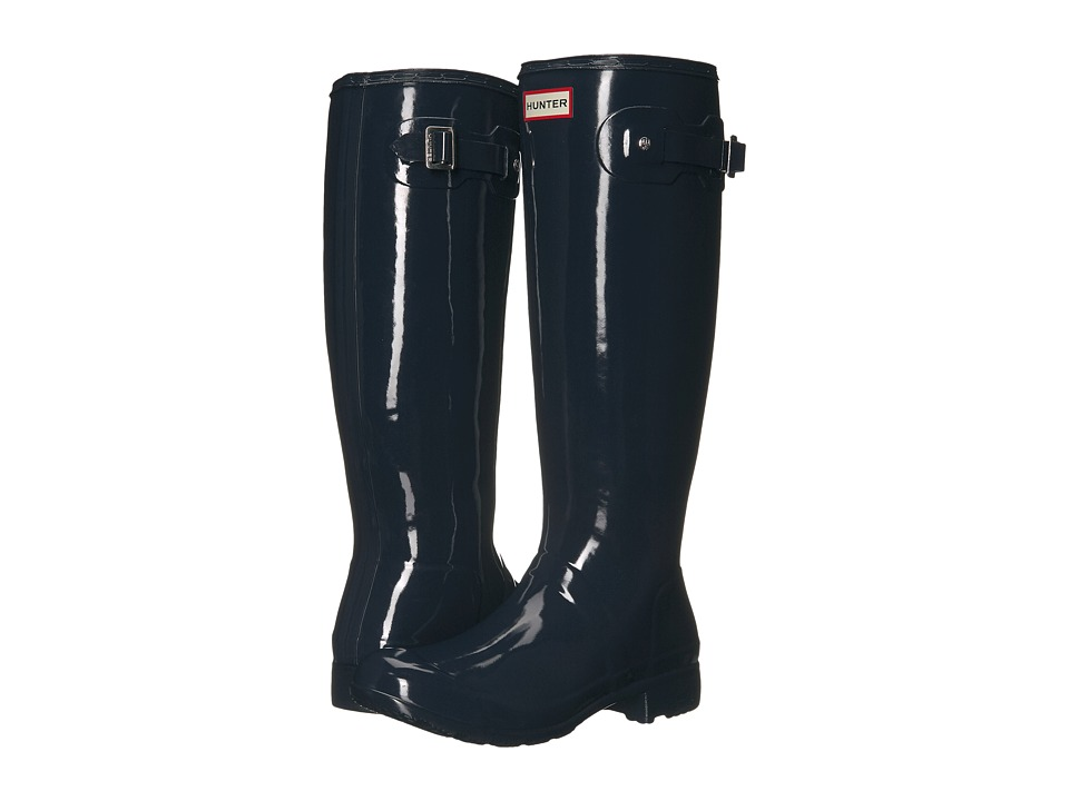 Hunter - Original Tour Gloss (Navy) Women's Rain Boots