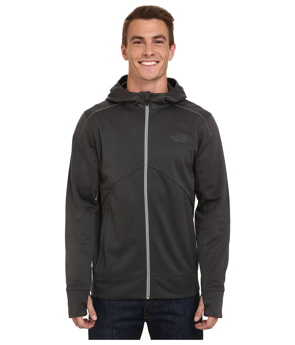 The North Face - Ampere Full Zip Hoodie (Asphalt Grey/TNF Black) Men's Sweatshirt