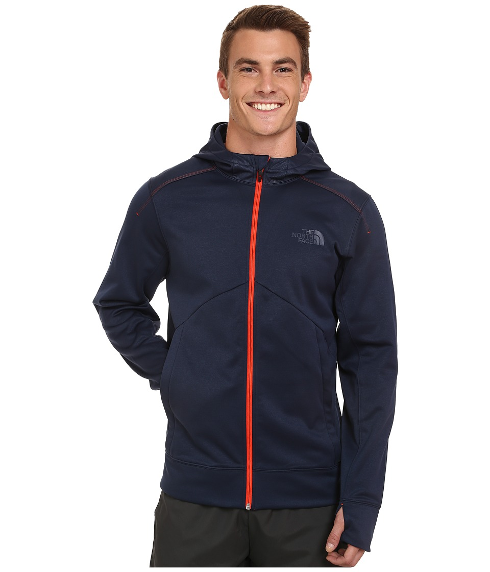 The North Face - Ampere Full Zip Hoodie (Cosmic Blue/Acrylic Orange) Men's Sweatshirt