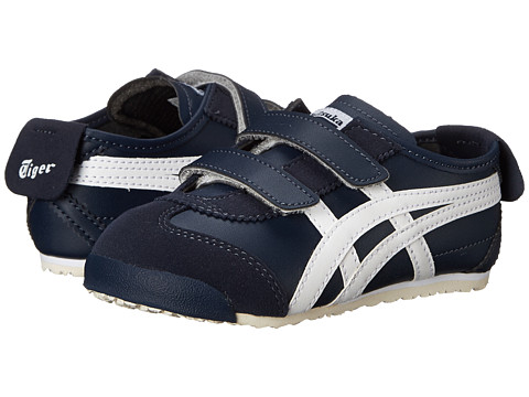 Onitsuka Tiger Kids by Asics - Mexico 66 (Toddler) (Navy/White) Boys Shoes