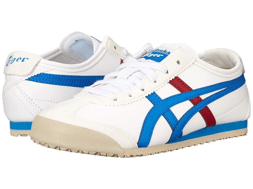 Onitsuka Tiger Kids by Asics - Mexico 66 (Toddler/Little Kid) (White/Mid Blue) Boys Shoes