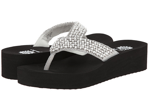Yellow Box - Ebony (White/Black) Women's Sandals