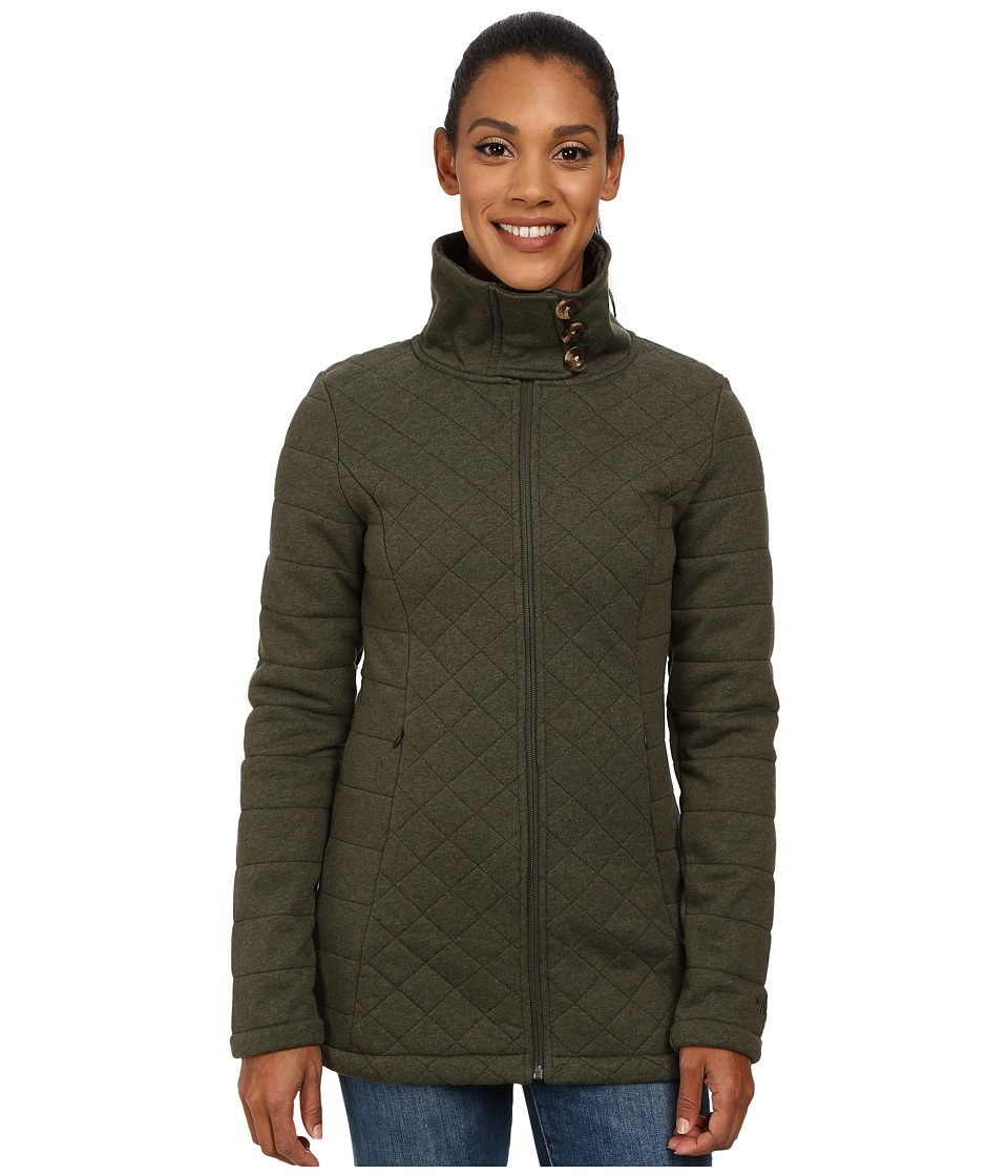 The North Face - Caroluna Jacket (Forest Night Green Heather) Women's Coat