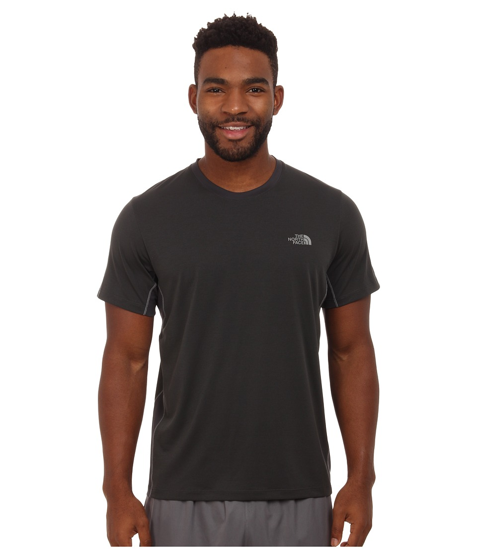The North Face Ampere Short Sleeve Crew Shirt (Asphalt Grey/Asphalt Grey) Men